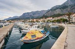 Port w Makarska Zdjęcia Royalty Free