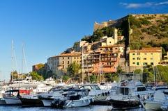 Port w Porto Ercole zdjęcia royalty free