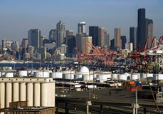 port w Seattle Obrazy Royalty Free