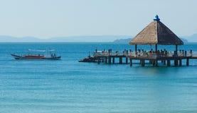 Port w Sihanoukville Obraz Royalty Free