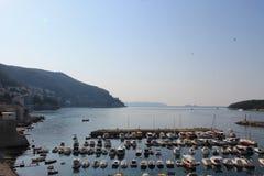 Port w starym miasteczku Dubrovnik Chorwacja obraz royalty free