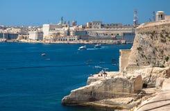 Port w Valletta, Malta Obrazy Royalty Free