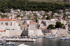 Port in the Walled City of Dubrovnic in Croatia Europe. Dubrovnik is nicknamed `Pearl of the Adriatic. Dubrovnik is one of the most beautiful towns in the Royalty Free Stock Photo