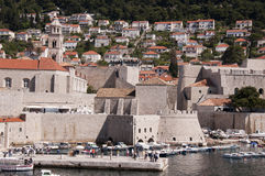 Port in the Walled City of Dubrovnic in Croatia Europe. Dubrovnik is nicknamed `Pearl of the Adriatic. Dubrovnik is one of the most beautiful towns in the Stock Photography