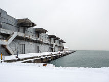 Port Warehouse in snow Royalty Free Stock Photography