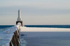 Port Washington Breakwater Light royalty free stock images