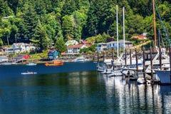 Port Washington de gig de kayak de marina de bateaux à voiles Images stock