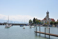 Port of Wasserburg at lake constance Stock Photo
