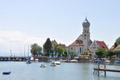 Port of Wasserburg at lake constance Stock Images