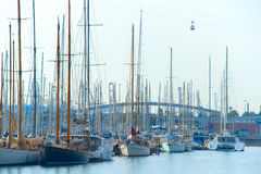 Port Well marina. Barcelona, Spain Stock Photo