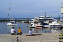 Port wharf view Royalty Free Stock Photo