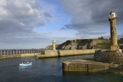 The port of Whitby (Yorkshire) Stock Photography