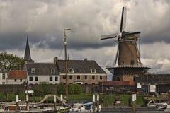 Port of Wijk bij Duurstede Windmill Royalty Free Stock Photo