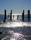 Port Willunga Glittering Sea Stock Images