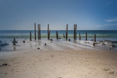 Port Willunga Jetty Ruins, South Australia Stock Images