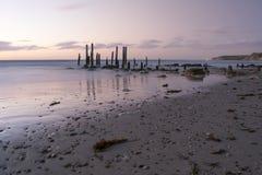 Port Willunga Sunset, Fleurieu Peninsula, South Australia Stock Image