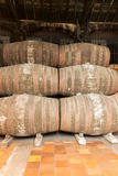 Port wine barrels Stock Photos