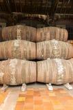Port wine barrels Stock Photos