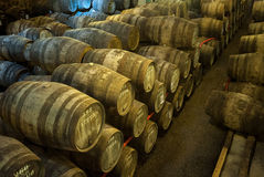 Port wine cellar in Vila Nova de Gaia, Portugal Stock Photo
