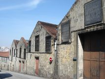 Port wine cellars street view, Porto Portugal royalty free stock images