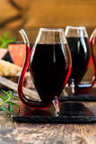 Port wine and cheese selection Royalty Free Stock Image