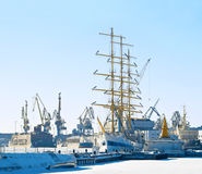 Port in winter Royalty Free Stock Photography