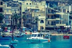 Port at Xlendi Bay, Gozo - Malta Royalty Free Stock Image