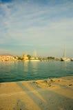 Port and yacht marine on Aegina Island Royalty Free Stock Photos