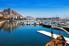 Port with yachts. Alicante Stock Images