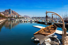 Port with yachts in Alicante. Spain Stock Photo