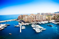 Port and yachts in Monaco Royalty Free Stock Photo