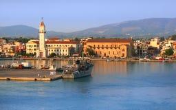 port zakynthos Arkivbild