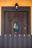A porta à casa Fotografia de Stock