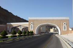 Porta à cidade de Muttrah, Oman fotografia de stock royalty free