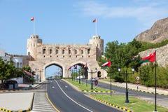 Porta à cidade velha de Muscat, Omã imagem de stock royalty free