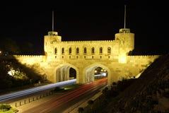 Porta à cidade velha do Muscat fotografia de stock royalty free