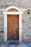 Porta à igreja ortodoxa grega imagem de stock