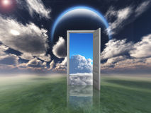 A porta ilustração royalty free