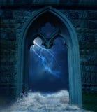 A porta ilustração stock