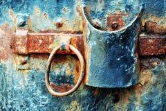 Porta abbandonata del metallo Fotografia Stock Libera da Diritti