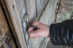 A porta abre Foto de Stock
