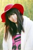 Porta affianco asiatica della ragazza Fotografia Stock Libera da Diritti