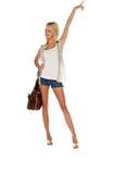 Porta affianco attraente della ragazza Fotografie Stock Libere da Diritti