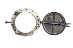 Porta aislada en blanco Imagen de archivo