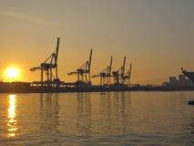 Porta al tramonto Fotografie Stock