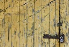 Porta alaranjada Fotografia de Stock
