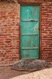 Porta alla casa beduina, Egitto Fotografia Stock