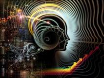 Porta alla mente umana Immagine Stock