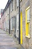 Porta amarela Imagem de Stock