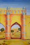 Porta amarela Fotografia de Stock Royalty Free